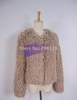 Long-sleeve thermal fur coat