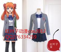 Shimban Gekkan Shoujo Nozaki-kun Chiyo Sakura Uniform Cosplay Costumes (custom made)