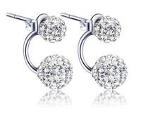Free shipping, 925 silver earrings shambhala earrings Princess micro