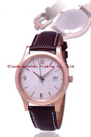 New Fashion Sapphire Glass Genuine Leather 316 Stainless Steel Quartz Rose Gold Watches 40MM Men Luxury Brand Free Shipping