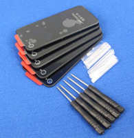 5 PCS Battery Cover Back Door Rear Glass For iPhone 4S A1387 Black+ Tools Free Shipping