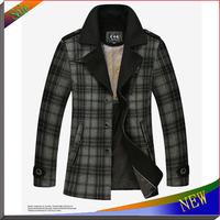 NEW Arrival Fleece Jackets For Men Coat Splice Wool Winter Jacket Warm Coat Slim Fit Jaqueta Windproof Outerwear Mens Jacket
