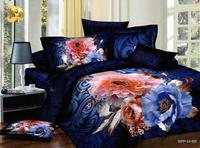 Home textiles/3d bedding set oil printing/duvet cover set/bed sheet/blue comforter Cover sets/Gig flower quilt cover sets