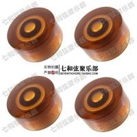 4 Pcs Electric Bass Guitar Speed Control Knobs,Guitar pots Tone volume knobs Buttons.(Coffee & Golden Digita)