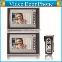 1-camera 2-monitor 7 Inch TFT LCD Screen Video Door Phone Doorbell Intercom Kit Night Vision Hand-free Home Security System