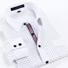 2014 nuevos hombres de negocios informales largo- manga vestido camisas de doble cuello smoking camisas para hombres fábrica de camisas hombres xg50-232 directo(China (Mainland))