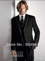 Free shipping ! The new best-selling men's wedding / prom dress and groom wearing apparel groom suit ( jacket + pants + tie + ve