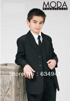 Preferred sell / free shipping / build children's children's wedding dress V -neck dress suits boys ( Jacket + pants + tie + ves