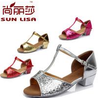 New Fashion Brand New 3.5cm Heel High Kids' Girl's Children's Women's Ladies Latin Ballroom Salsa Dance Shoes WZSP 608