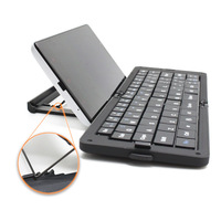 New Foldable Ergonomics  Wireless Bluetooth Keyboard For iPhone iPad Android HTC Galaxy Tab + Adjustable Phone Holder