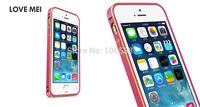 NEW Original LOVE MEI High Quality Multi-Color Aluminium Alloy Bumper Case for  iPhone 5 5s Free Shipping(2000PCS/LOT)