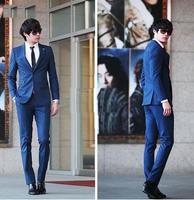 Top new goods light gray single button groom dress / Peak lapel suits men wedding groomsman groomsmen / groom ( Jacket + pants +