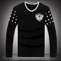 Freeshipping,2014 winter autumn male bottoming t shirts men cotton slim warm t-shirts man tops (LT0118)