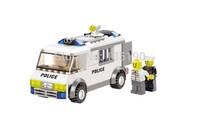 KAZI 6730 135pcs 3D DIY Construction eductional plastic Bricks Building Block Sets Police prisoners cars Enlighten children toy