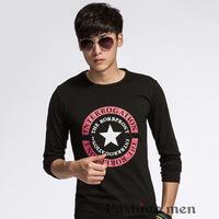 cheaper sell,2014 autumn new arrival mens long sleeve t-shirts fashion  winter man tops Tshirt size M-XXL(LT0121)