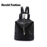 Casual High Quality Pu Leather Backpack For Women Vintage Students School Bag Big Capacity Travel Bgas Bolsas Mochilas Femininas