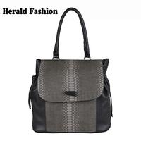 Vintage Celebrity Bag Serpentine Crocodile Pattern Women Handbag Fashion Ladies Shoulder Bag Office Bag String Tassel Bag Bolsas