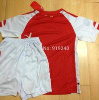 Customize! 14/15 season kids A rsenal jersey top quality soccer uniforms (Jersey + shorts) Size 16--28