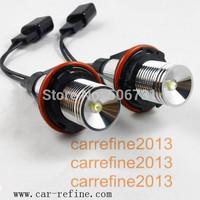 2 x  3W LED Angel Eye Kit E39 E53 E60 E61 E63 E64 E65 E66 E87 - WHITE  for BMW E39/E53/E60/E63/E64/E65/E66/E67