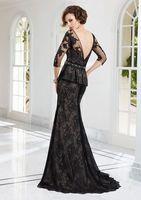 2014 New black Noble Elegant Bride Mother lace Wedding dress  custom