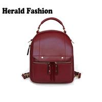 Preppy Style School Bag For Teenage Girls Cute PU Leather Backpacks Solid Fashion Women Shoulder Bag Satchel Mochila Feminina