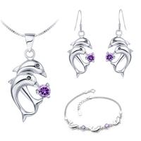 Fashion Bridesmaid Jewelry Set Silver 925 Wedding Accessories Simulated Diamond Dubai Jewelry Sets Brand Wholesale Ulove T159