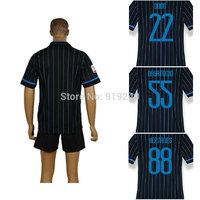 Customize! 14/15 season kids HERNANES jersey top quality soccer uniforms (Jersey + shorts) Size 16--28