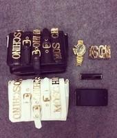 New 2014 women handbag PU women leather handbags small bags female metal letters shoulder bag women messenger bag rock and roll