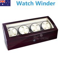 Ebony 8 Piano wood Automatic Watch Winder Display Box 8+ 9 Leather storage