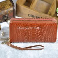 Free Shipping Female double zipper clutch wallets ladies' wallet with PU Wrist strap, women's Coin Purses Handbags HDPL-911S