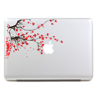 Free shipping beautiful spring pink flowers tablet sticker and laptop computer sticker for macbook Pro 13,Air 13,205*270mm