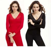 Thermal Underwear Set ,Thick Warm Autumn -Winter Long Jhon ,Women Shape wear Black Underwear Lingerie Clothing Set  AYLS0028