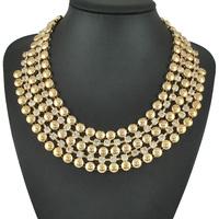 Fashion Choker Jewelry Rhinestone Chunky Big Chain Necklace For Women Dress