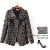 Oblique zipper short women's cashmere coat 2014 NEW woolen coat woman jacket winter overcoat Woollen coat female short outwear
