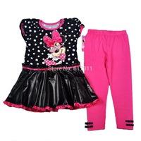 wholesale lot 2014 girls christmas sets minnie girls outfits brand girls clothes set fashion girls clothing sets dress+leggings
