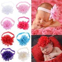 1PC Pretty Kids Children Chiffon Flower Hairband Soft Elastic Headband Flower Headband for Babies/Newborns/Toddler/Girls