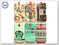 For Samsung S7392 Case Silicone Soft Glossy TPU OWL Gun Radio Retro Design Cover for Galaxy Trend Lite S7390 New Arrival 10pcs