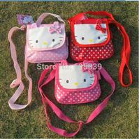 Children Messenger Bags Kids Girls Cute Cartoon Bags Kitty Cat Design Kids Shopping Bags 3 Colors Free Shipping
