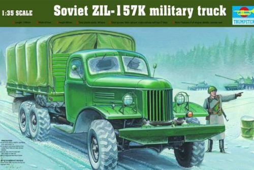 Trumpeter 1/35 01003 Soviet ZIL-157K Military Truck Plastic Model Kit Free Shipping(China (Mainland))