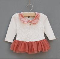 baby girls dresses new fashion 2014 autumn baby dress baby girls clothes kids cotton lace infant dress vestido infantil retail