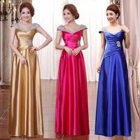 2014 double-shoulder long design one shoulder plus size evening dress toast  formal gold prom dresses purple red carpet dresses