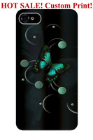 drop proof hard shell black green butterfly design art pattern 4 4S 5 5S 5C 6 cover protector for iphone 5 case butterfly design