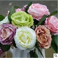 50Pcs/Lot  Wholesale 8.5*28CM Party Fabric Home Wedding Decoration Decorative Artificial Peony Flower 5 Colors