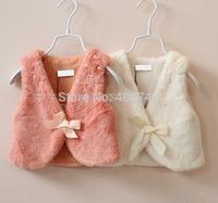 girls white   fur vest/vestcoat,6pcs/lot,HZ-14MM04