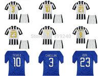 Customize! 14/15 season kids Ju ventus jersey top quality soccer uniforms (Jersey + shorts) Size 16--28