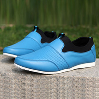 2014 Hot Sale Man's Casual Sneaker Fashion Comfortable Breathable Slip-on Shoe PU Leather Size 39-44,Drop Shipping,256