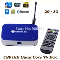 CS918II Quad Core Android TV Box RK3288 Cortex-A17 2GB/8GB Bluetooth 4.0 Wifi HDMI RJ45 XBMC Android 4.4 Smart TV Set-top Box