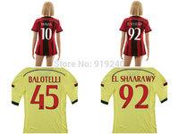 Customize! 14/15 season Women AC Milan jersey top quality soccer uniforms Size S M L