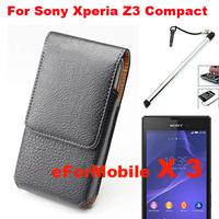 Vertical Case Belt Clip Case Mobile Phone Case PU Case + Screen Protector + Pen For  Sony Xperia Z3 Compact Xperia Z3 mini/M55W