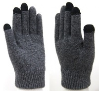 Fashion solid color thermal gloves wool gloves women's gloves autumn and winter
